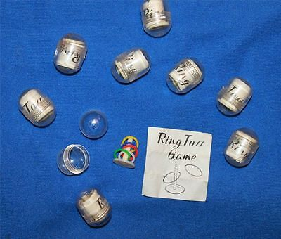 8 Vintage Penny King Ring Toss Gumball Charms Prize