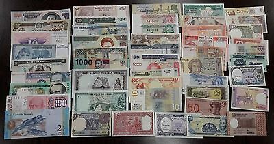 All Different World Banknotes UNC lot / set  100 Pcs from bundle