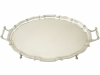 Sterling Silver Drinks/Tea Tray - Antique George V