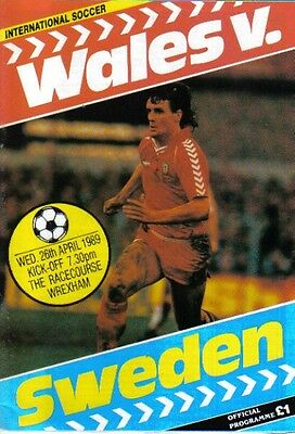 1989 WALES  v  SWEDEN  (FRIENDLY  FIXTURE)