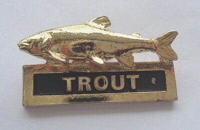 Trout  Lapel Badge Fishing