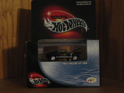 Hot Wheels 100% 1967 Shelby Gt 500 Ebay Edition New In Sealed Box