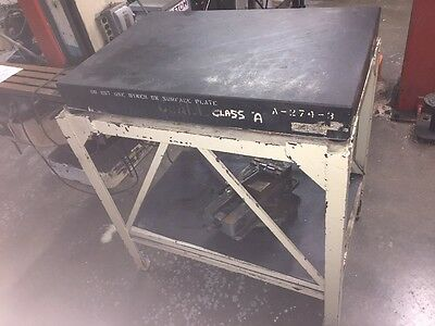 """DO ALL Black Granite surface plate 24""""x36""""x4"""" w/ Table, Base 42"""" Height"""