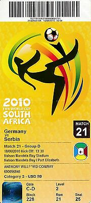 TICKET: WORLD CUP 2010  Germany v Serbia