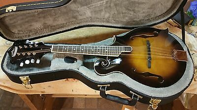 New Morgan MM550 F-Style Mandolin & Case - Solid Carved Spruce & Maple