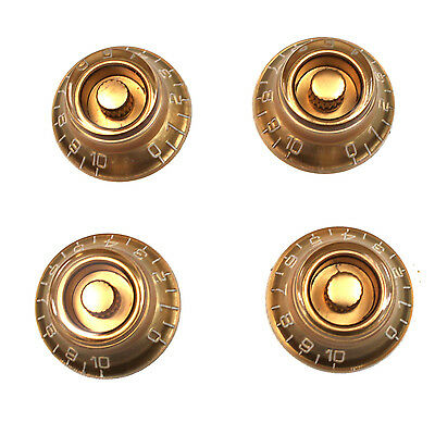 Electric Guitar Knobs Amber 6mm Fits Les Paul SG x 4
