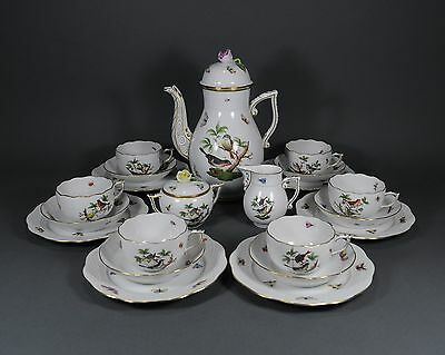 Herend Rothschild Kaffeeservice coffee service set porcelain cup pot plate