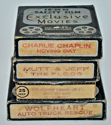 16mm FILMS SHORT MOVIES 4 MOVIES IN BOXES