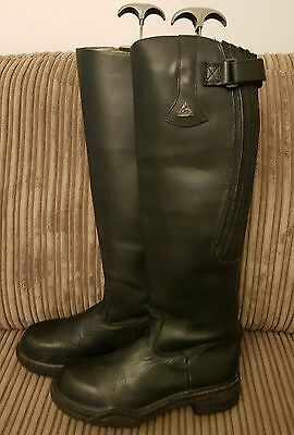 Mountain Horse high rider black leather tall boots size 6.5 regular