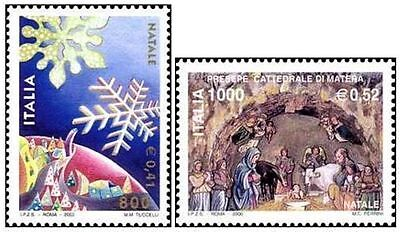 # ITALIA ITALY - 2000 - Natale Christmas - Painting - Set 2 Stamps MNH