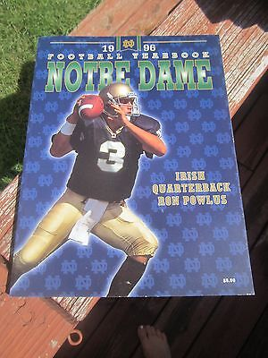 1996 NOTRE DAME Football Yearbook