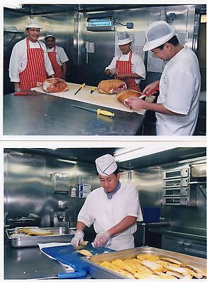 P&o Cruise Ship Aurora - Official Photograph Behind The Scenes In The Galley