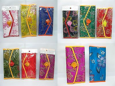 50 Beautiful Embroidered Chinese Silk 2-Folding Purses