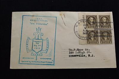 Naval Cover 1933 Ship's Cancel Navy Yard Puget Sound U.s.f. Constitution (3086)
