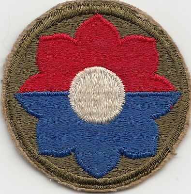 Us Army Patch - 9Th Infantry Division - Original - Wwii