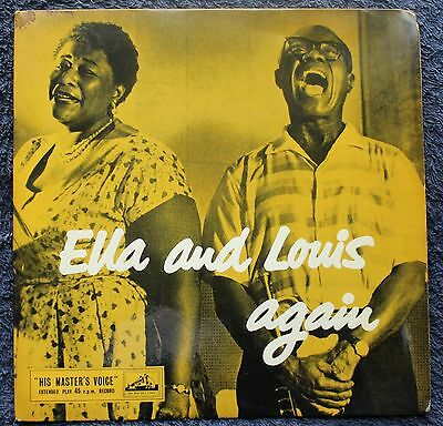 """Ella Fitzgerald And Louis Armstrong Again Jazz Vocal 1950s 7 """" INCH 45RPM"""