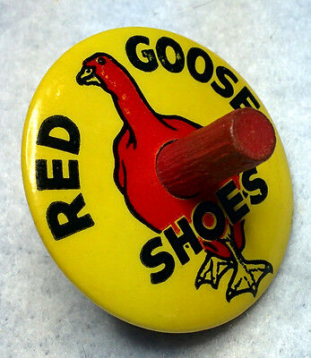 Original Red Goose Shoes Vintage Advertisement Celluloid Toy Spinner
