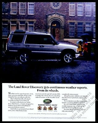 2000 Land Rover Discovery Series II SUV photo vintage print ad