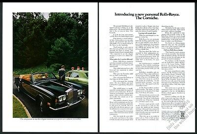 1972 Rolls-Royce Corniche convertible car color photo vintage print ad