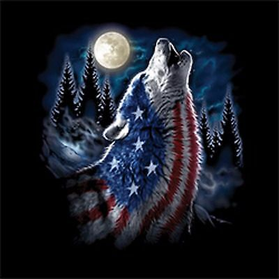 Flag Wolf Americana Mens Tank Top Size Small to X Large  Pick Your Size