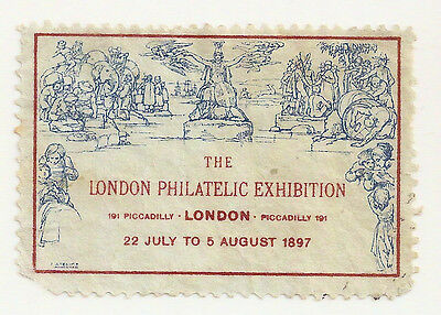 Gb Mulready 1897 London Philatelic Exhibition Mnh Label