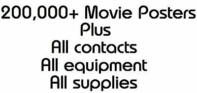 200,000+ Original Movie Poster Lot • All Contacts & Equipment • Entire Business!