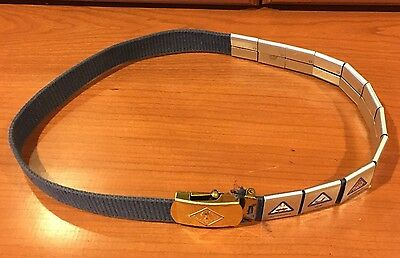 "Cub Scout 28.5"" Blue Belt & Brass Buckle 11 Sport and Academic belt loops"