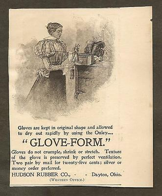 Vintage Ad From Munsey's Magazine - Hudson Rubber Glove-Form