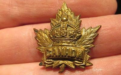 Canada WWI/CEF Brass Collar Dog with King's Crown & Inscribed Canada