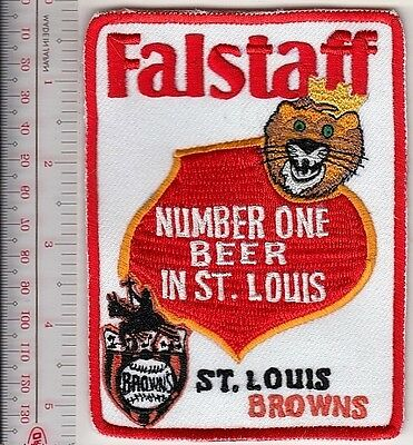Beer Baseball St. Louis Browns & Falstaff Beer Promo Patch Saint Louis, MO Promo