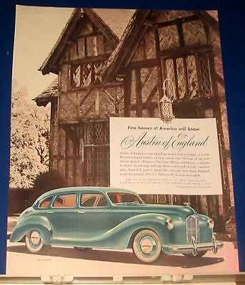1948 Austin of England The Devon car Ad