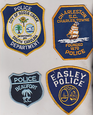 Goose Creek,Charleston, Beaufort & Easley SC Police patches