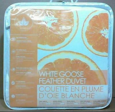 Canadian Down & Feather 233TC White Goose Feather Duvet King $150