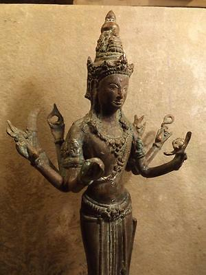 Vishnu the preserver - Antique early 1800's Thai bronze sculpture. Hindu art
