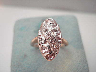 Antique Victorian 14K Yellow Gold Five Stone Diamond Ring Signed Jtc