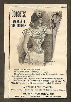 Vintage Ad From Munsey's Magazine - Warner's Corsets & Wilson's Ear Drums