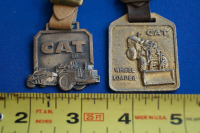 Caterpillar Lot of 2 Vintage Waatch Fobs with Straps