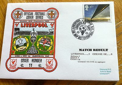 Football First Day Cover Football European Cup Liverpool V Odense Bk