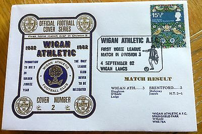 Football First Day Cover Football Wigan Athletic V Brentford 1982