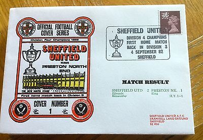 Football First Day Cover Football Sheffield United V Preston North End 1982
