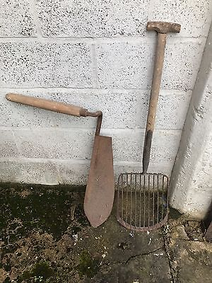 Antique Potato Fork And Hay Knife