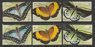 AUSTRALIA 2016 Butterflies $ 1.00 Only 2 Complete Sets Fine Used