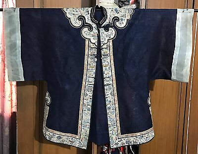 19Th-C-Hand-Embroidered-Chinese-Summer-Robe