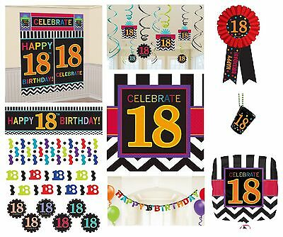 CHEVRON Age 18 - Happy 18th Birthday PARTY ITEMS Celebrate Decorations Tableware