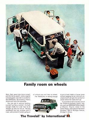 Vintage ad 1960s International Harvester Travelall Camping Color