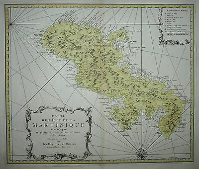 Martinique By The Heirs Of Johann Baptist Homann Published Nuremberg 1762.