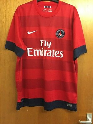 Rare 2012 PSG Paris Saint Germain Football Club Shirt Away Nike Fly Emirates Xl