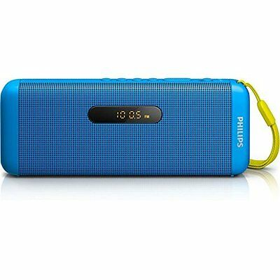 Philips SD700A Wireless Portable Speakers (USB/Bluetooth/Audio-In 3.5 mm) - Blue