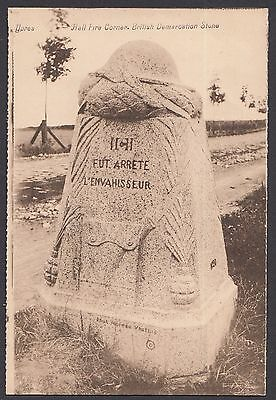 Ypres,  Hell Fire Corner,  British Demarcation Stone   Postcard Unposted   (941)