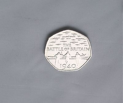 50P Coin  2015 The Battle Of Britain 1940